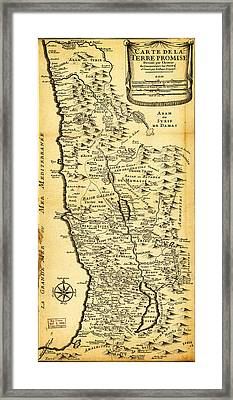 Liebauxs Map Of The Holy Land 1720 Framed Print by MotionAge Designs