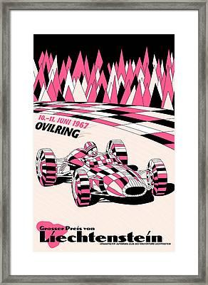 Liechtenstein 1967 Grand Prix Framed Print by Georgia Fowler