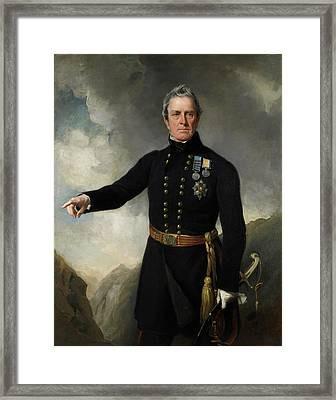 Lieutenant-general Sir George Pollock Framed Print by British Library