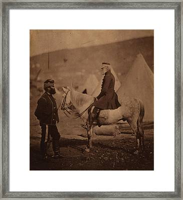 Lieutenant General, The Honourable Sir James Yorke Scarlett Framed Print by Quint Lox