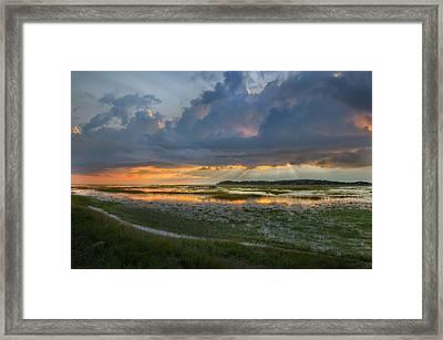 Lieutenant Island Sunset Framed Print