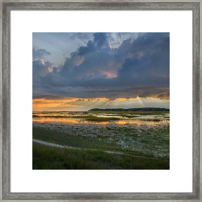 Lieutenant Island Sunset Square Framed Print