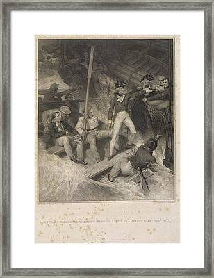 Lieutenant Nelson Framed Print by British Library