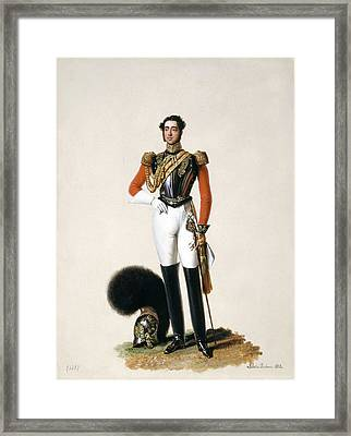 Lieutenant Thomas Myddleton Biddulph Framed Print by Alexandre-Jean Dubois Drahonet