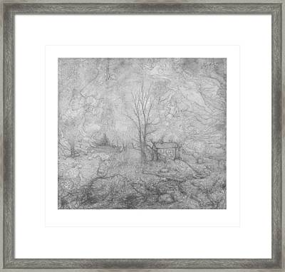 Life Around The Cabin Framed Print