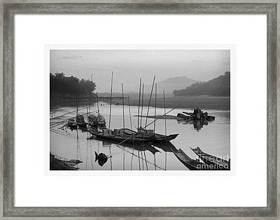 life at Mae Khong river Framed Print by Setsiri Silapasuwanchai