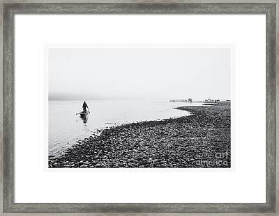 Life At Mekong River Framed Print