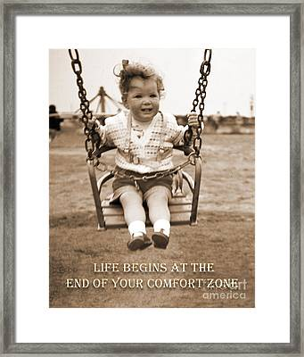 Life Begins Framed Print