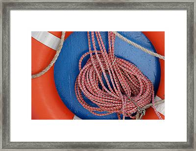 Life Belt And Line Framed Print by Ulrich Kunst And Bettina Scheidulin