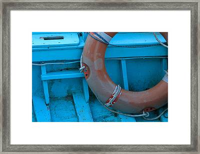 Life Belt In A Skiff Framed Print by Ulrich Kunst And Bettina Scheidulin