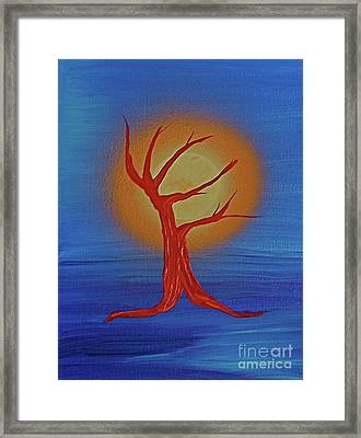 Framed Print featuring the painting Life Blood By Jrr by First Star Art