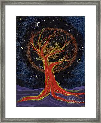 Life Blood Tree By Jrr Framed Print by First Star Art