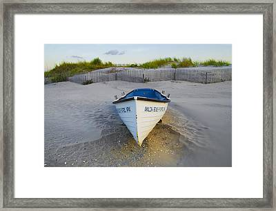 Life Boat - Avalon New Jersey Framed Print by Bill Cannon