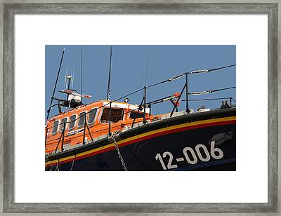 Framed Print featuring the photograph Life Boat by Christopher Rowlands