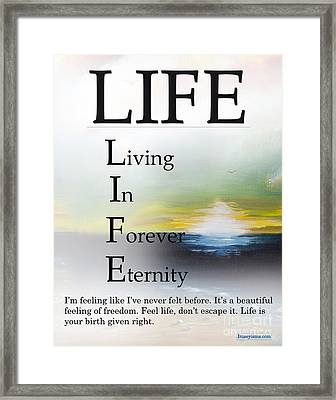 Life Buseyism By Gary Busey Framed Print by Buseyisms Inc Gary Busey