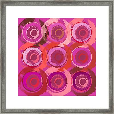 Framed Print featuring the digital art Life Circles by Lisa Noneman