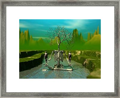 Framed Print featuring the digital art Life Death And The River Of Time by John Alexander