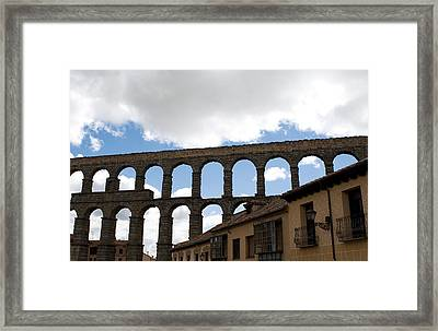Life Framed By Aqueduct Framed Print by Lorraine Devon Wilke