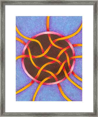 Life Goes On Mandala Framed Print