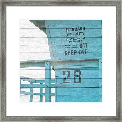 Life Guard Beach Shack Framed Print by Susan Bryant