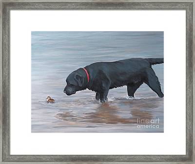 Life Guard Framed Print by Charlotte Yealey