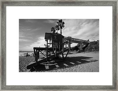 Life Guard Stand Framed Print by Paul Scolieri