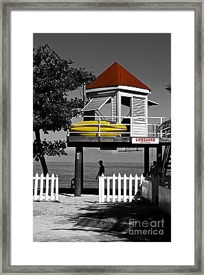 Life Guard Station Framed Print
