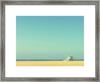 Life Guard Tower Framed Print