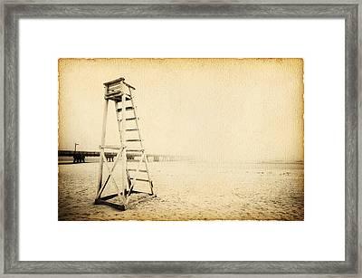 Life Guard Tower Framed Print by Skip Nall