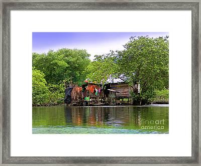 Life In Bocas Del Toro - Panama Framed Print by Al Bourassa