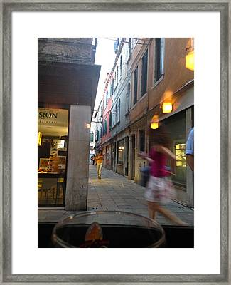 Life In Dorsoduro Venice Framed Print by Amy Cline