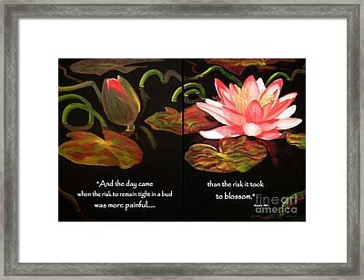 Life In Full Bloom Framed Print