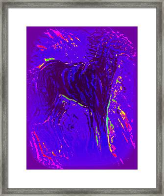 If There Is Life In Space, There Must Be Horses  Framed Print by Hilde Widerberg