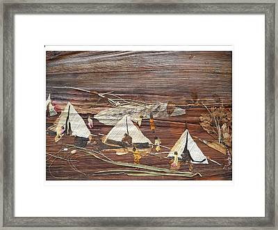 Life In Tents Framed Print
