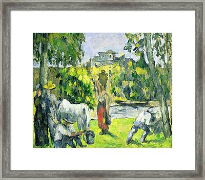 Life In The Fields Framed Print by Paul Cezanne