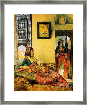 Life In The Hareem Cairo Framed Print by Celestial Images