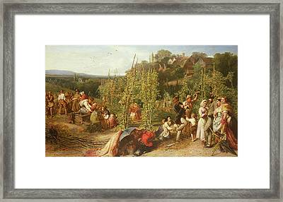 Life In The Hop Garden, 1859 Framed Print