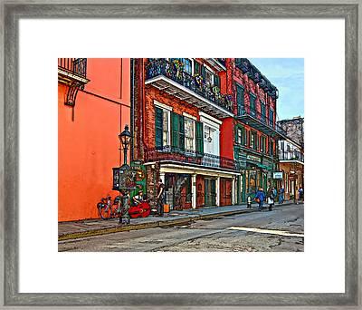 Life In The Quarter Painted Framed Print by Steve Harrington