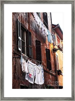 Life In Trastevere Framed Print