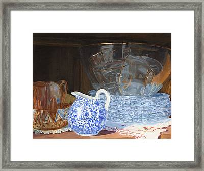 Framed Print featuring the painting Life Is A Carnival Glass by Lynne Reichhart