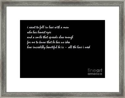 Life Is A Dream Framed Print