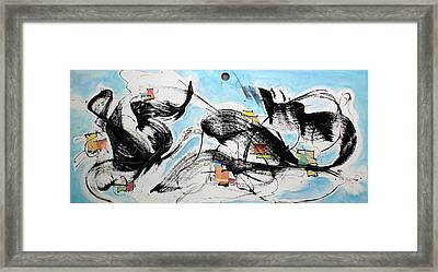 Life Is A Musical Framed Print by Asha Carolyn Young
