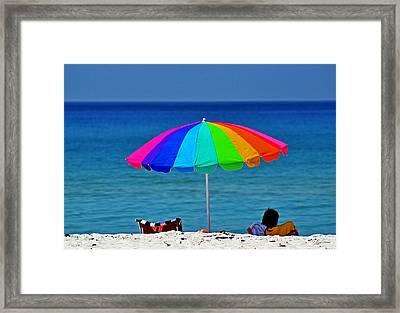 Life Is A Sunny Beach 001 Framed Print