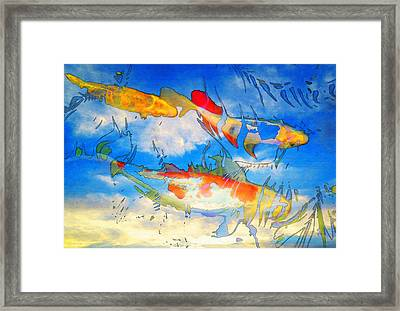 Life Is But A Dream - Koi Fish Art Framed Print by Sharon Cummings