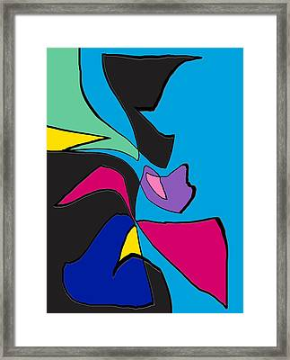 Original Abstract Art Painting Life Is Good By Rjfxx.  Framed Print