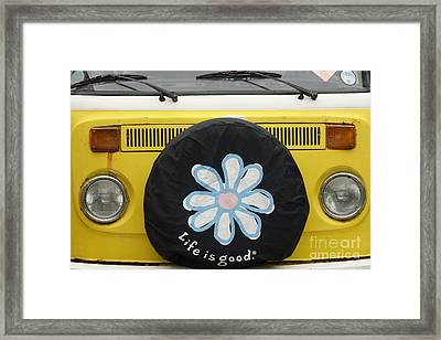 Life Is Good With Vw Framed Print by Wendy Wilton