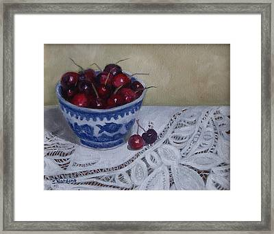 Life Is Just A Bowl Of Cherries Framed Print