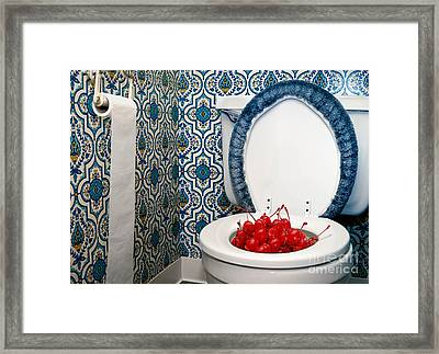 Life Is Just A Toilet Bowl Of Cherries  Framed Print