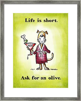 Life Is Short Framed Print by Mark Armstrong
