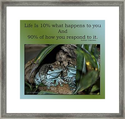 Life Is Sticky Sometimes Framed Print by Thomas Woolworth